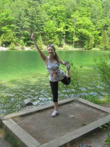 Yoga at Pink Lake.