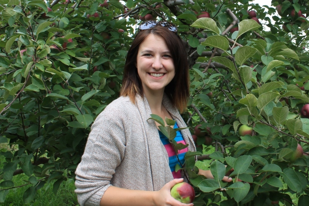 It's really hard to take a bad picture when you're surrounded by apples.