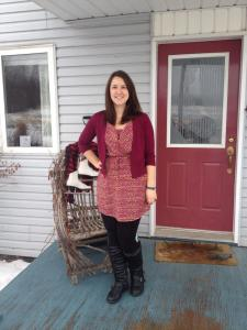 Me wearing MY boots on Christmas eve (before I got fancy, of course). I am 100% sure these are my boots.